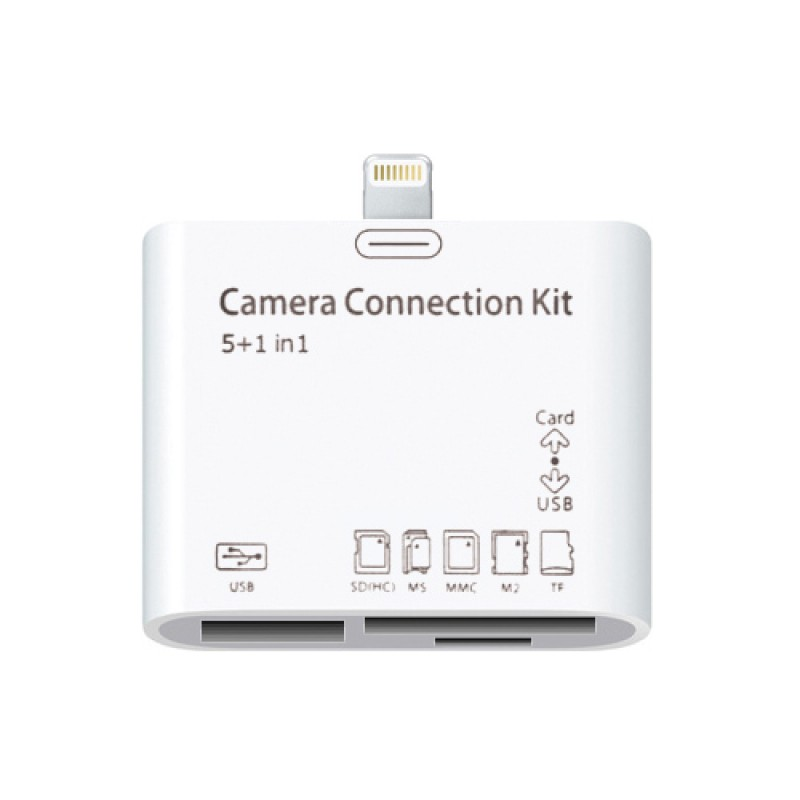 IPAD 4 / MINI IPAD - 5 IN 1 CAMERA CONNECTION KIT AND READER ADAPTER